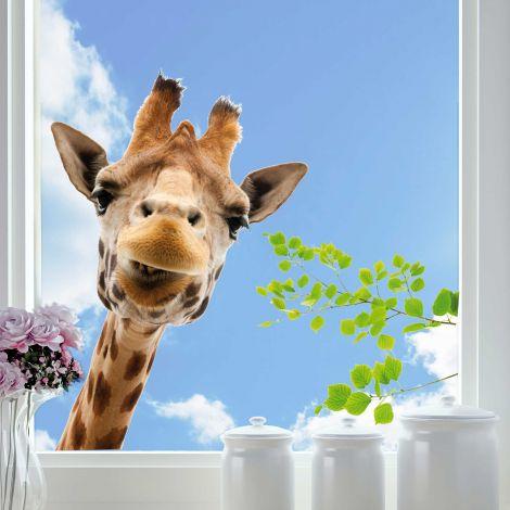 Raamsticker Giraf