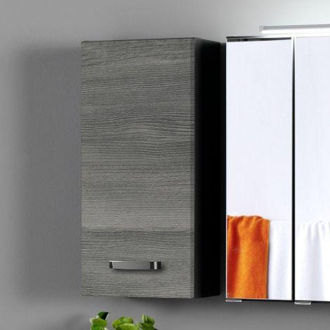 Hangkastje Bobbi 30cm 1 deur - grafiet/grijze eik