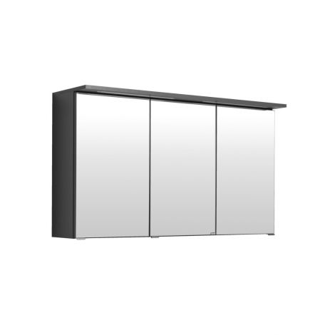Spiegelkast Bobbi 120cm model 1 3 deuren & ledverlichting - grafiet