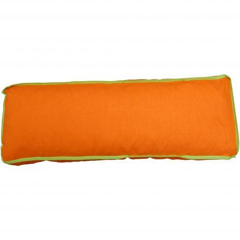 Kussen groen/oranje