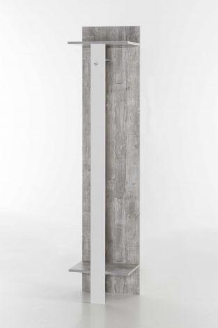 Kapstok Lake - wit/beton