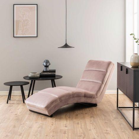 Chaise longue Slick - roze
