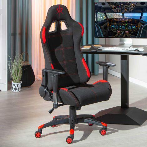 Gamestoel Frasso - zwart/rood
