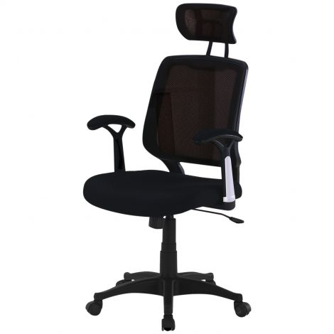 Bureaustoel Detroit - zwart