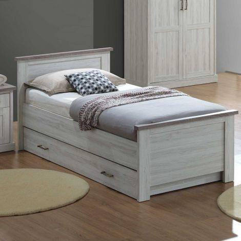 Bed Emily 90x200 cm - eik lichtgrijs