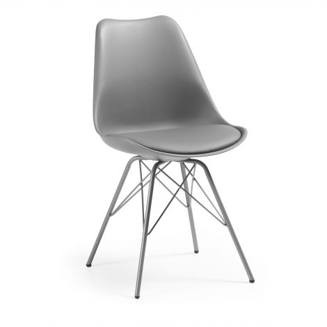 Set van 2 stoelen Ralf metaal/kunststof - grijs