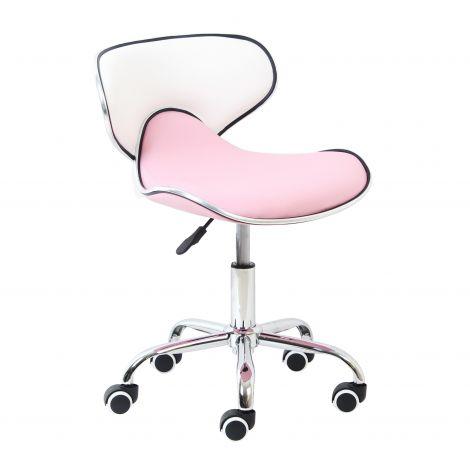 Bureaustoel Spring - roze/wit