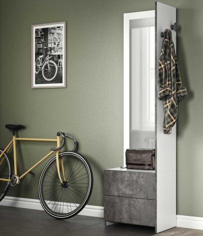 Vestiaire Hallway - wit/beton