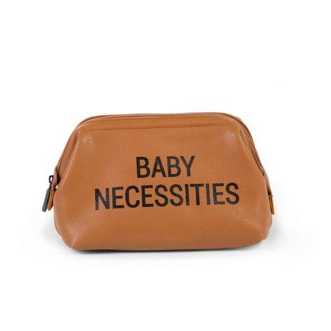 Toilettas Baby Necessities lederlook - bruin