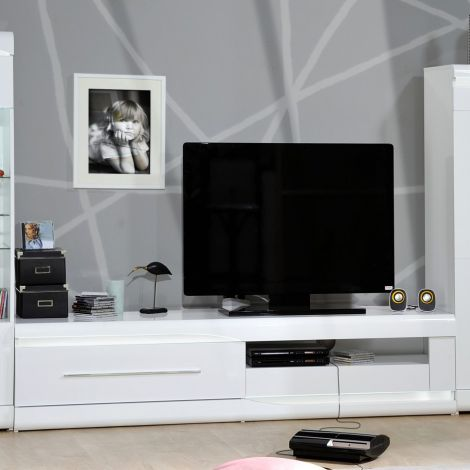 Tv-meubel Ovar 200cm - hoogglans wit
