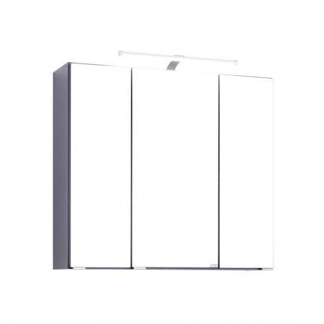 Spiegelkast Bobbi 70cm model 2 3 deuren & ledverlichting - grafiet