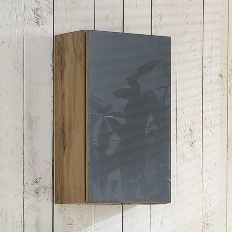 Hangkast Helina 40cm 1 deur - eik/grijs