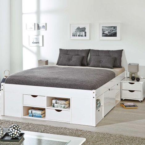 Bed Xavier 140x200cm - white wash