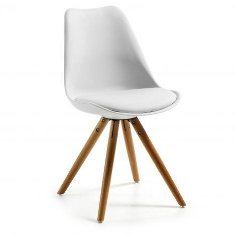Set van 4 stoelen Ralf hout/kunststof - wit