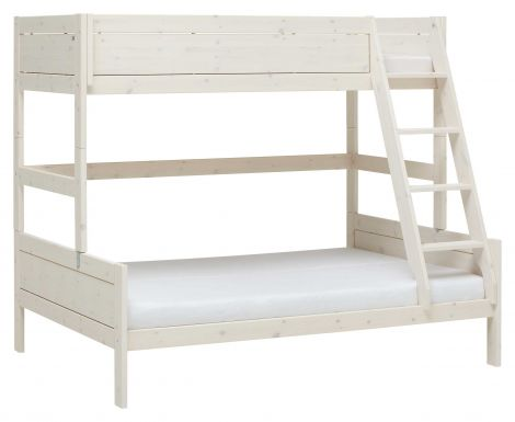 Stapelbed Family 90/140 - white wash