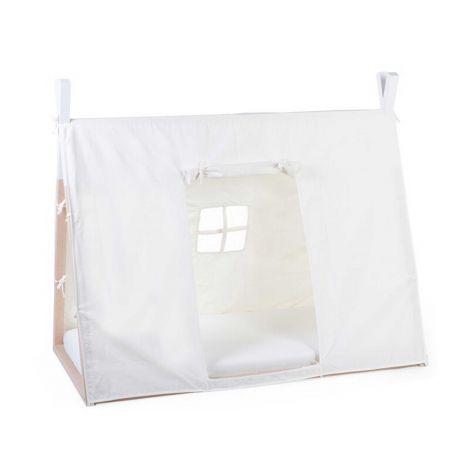 Bedtent voor tipi peuterbed 70x140cm - wit