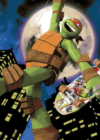 Tapijt Turtles - Mike Skate