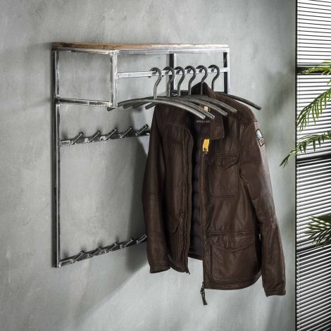 Kapstok Anais 2x7 haken, roede & hoedenplank