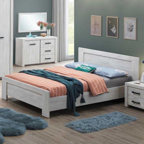 Bed Elvira 160x200 - witte eik