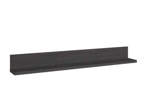 Wandplank Gaston - zwart hout