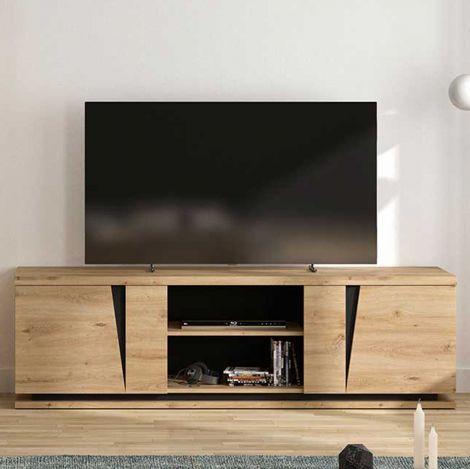 Tv-meubel Split 2 deuren 181cm - artisan eik
