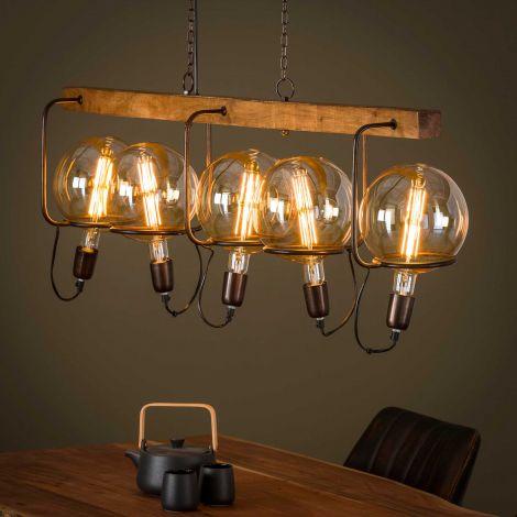 Hanglamp Adeline 5 lampen - mango