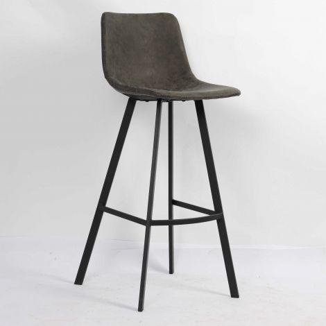 Set van 2 barstoelen Ozan H 65cm - grijs