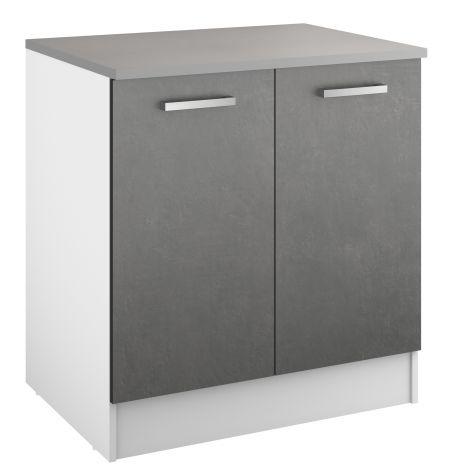 Onderkast Eli 80 cm met 2 deuren - beton