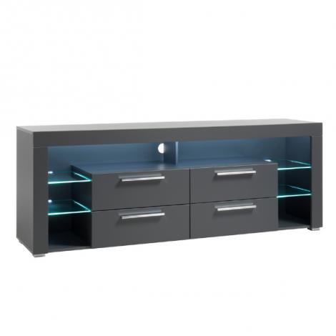 Tv-meubel Gazza 179cm met 4 lades - mat grijs