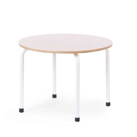 Ronde kindertafel Ø60cm - naturel/wit