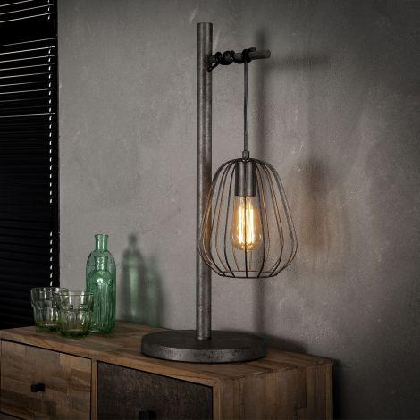 Tafellamp 1L lampoon - Oud zilver