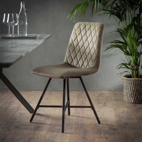Set van 4 stoelen Bailey - champagne