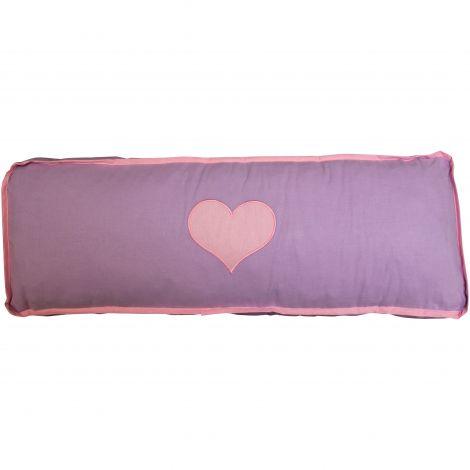 Kussen paars/roze hart