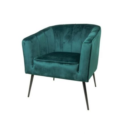 Fauteuil Chester - velours - donkergroen