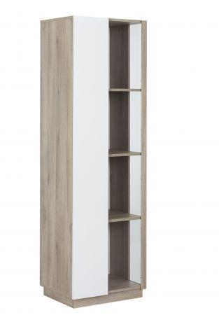 Vitrinekast Gaston 1 deur - lichte Kronberg eik/wit