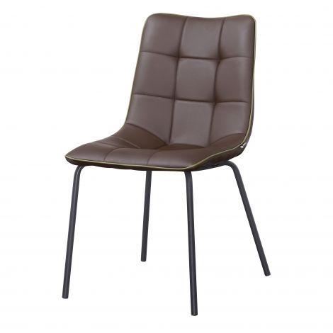 Stoel van 4 stoelen Lucie - bruin