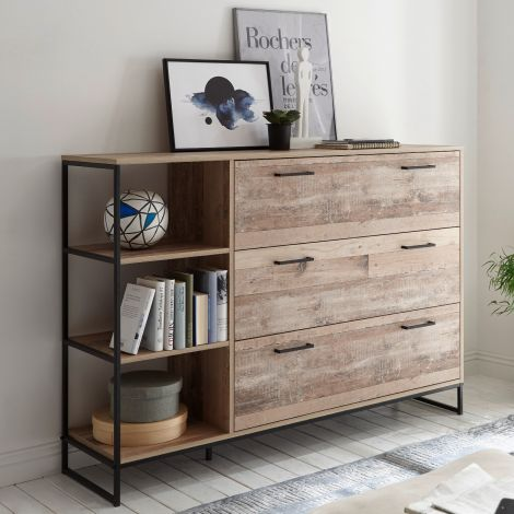 Commode Kemar 140cm met 3 lades - old style