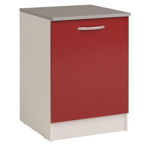 Onderkast Eko 60 cm met deur - rood