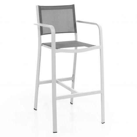 Barstoel voor buiten Murcia - wit/grijs