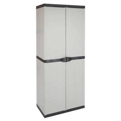 Opbergkast Plasti 2 deuren - grijs