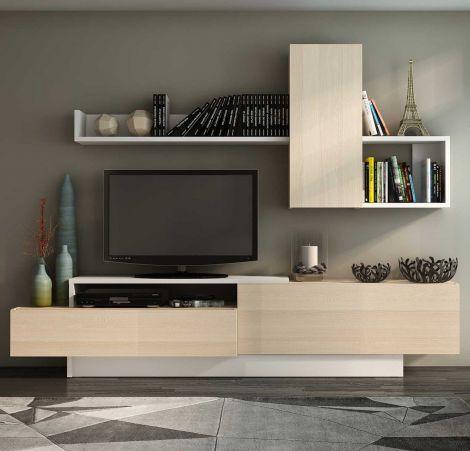 Tv-meubel Cosmit 240cm - es/wit