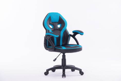 Bureaustoel Kidz - blauw/zwart