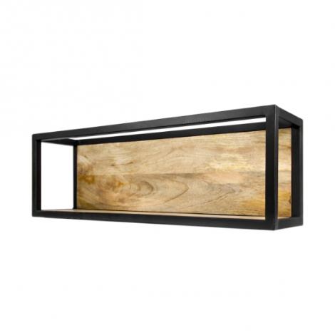 Wandbox Levels 75x25cm – mangohout/ijzer