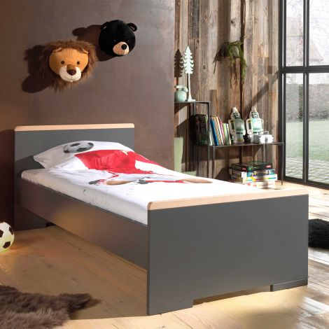 Bed London 90x200 - antraciet