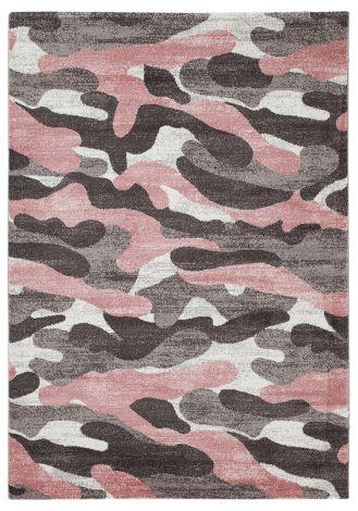 Vloerkleed Camouflage 170x120 Kinderen - Roze