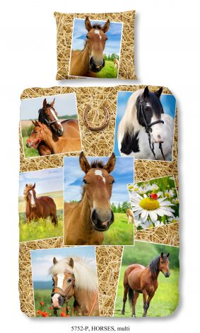 Dekbedovertrek Horses 140x220