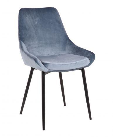 Set van 2 fluwelen stoelen Mirano - blauw