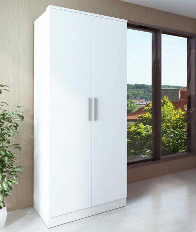 Kledingkast Ramos 80cm met 2 deuren - wit