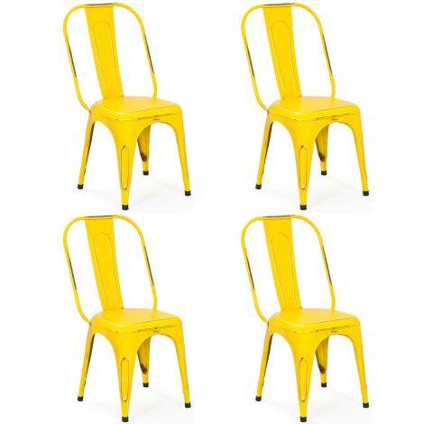 Set van 4 stoelen Aix - geel