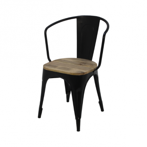 Set van 4 Industriële caféstoelen Tap - mangohout / ijzer